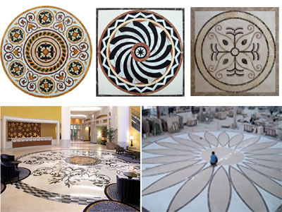 Waterjet inlay patterns or medallion