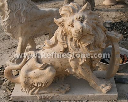 Decoration sitting lion statue