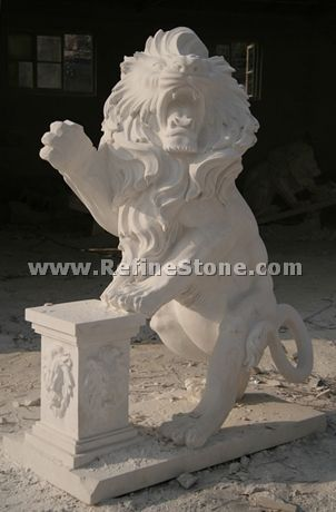 modern stone lion sculpture
