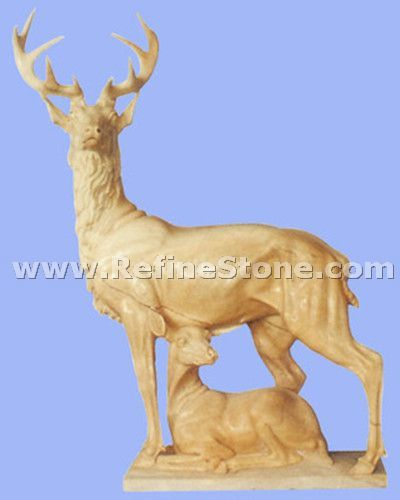 Marble animal carving