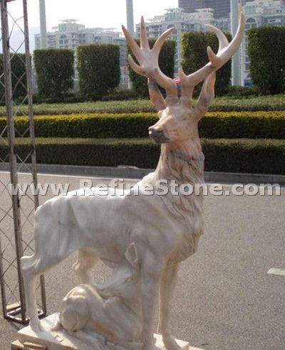 Natural marble animal statues