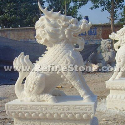 Lion marble sculpture