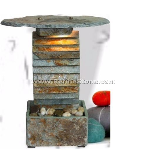 slate rounds indoor home fountain