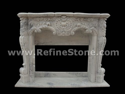Western white fireplace design