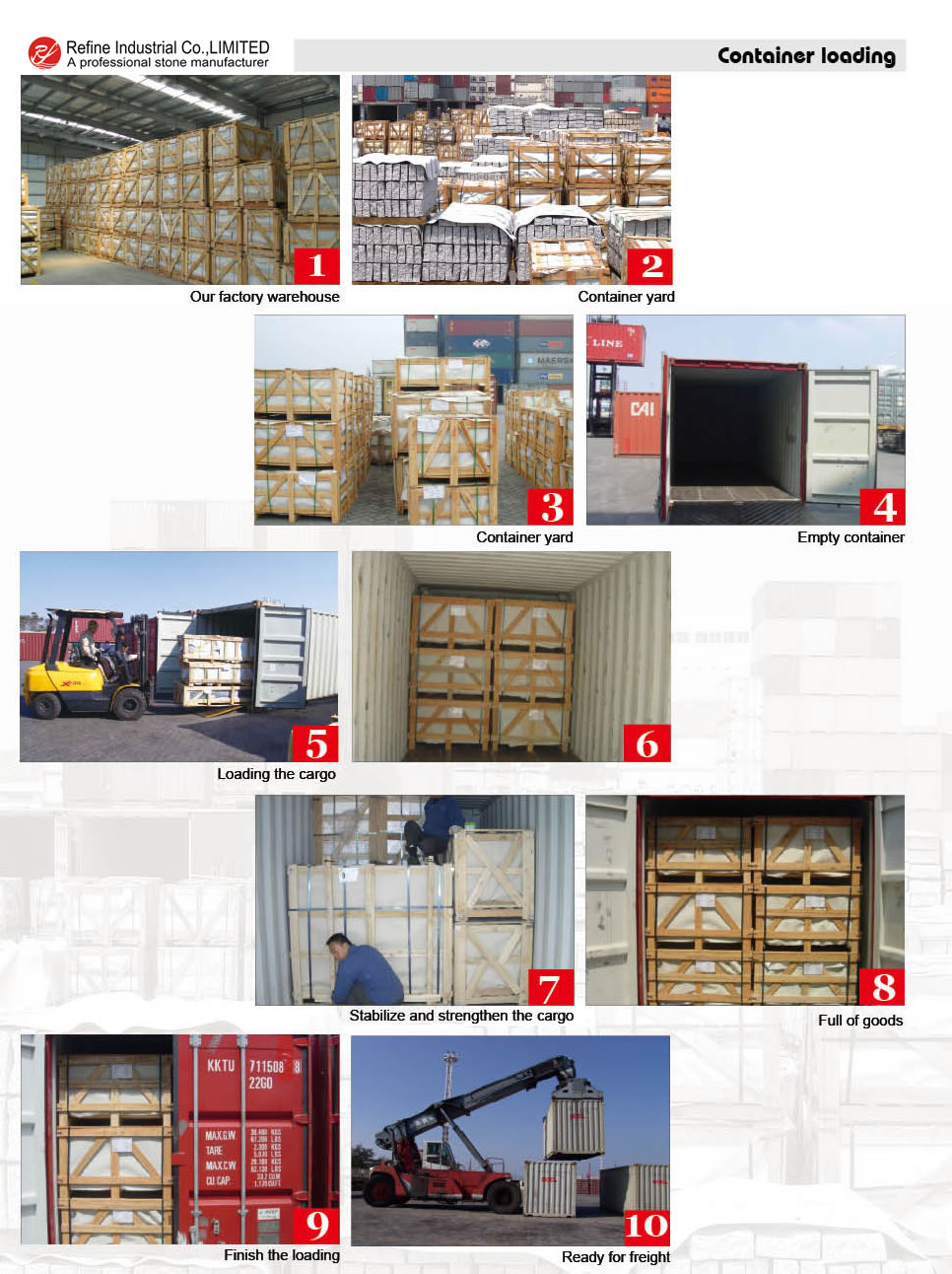 Container Loading - Refine Industrial Co ,LIMITED
